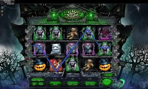 Lota Play featuring the Video Slots House of Scare with a maximum payout of $3,000