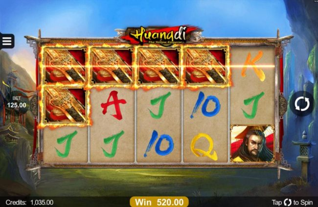 Zodiac featuring the Video Slots Huangdi The Yellow Emperor with a maximum payout of $300,000