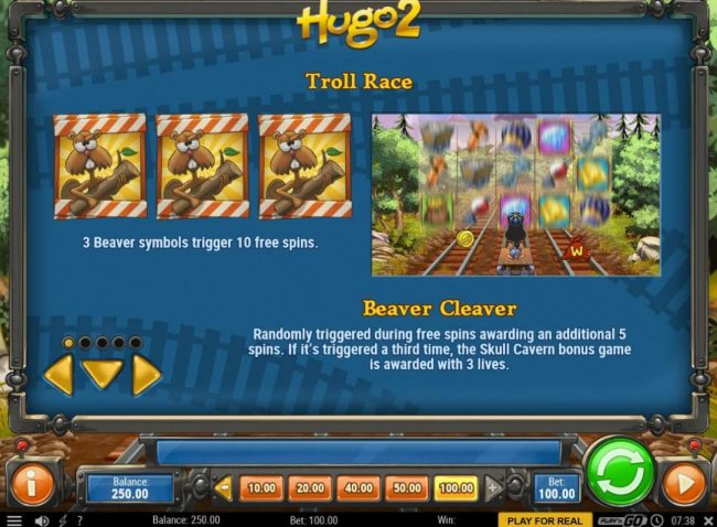 TS featuring the Video Slots Hugo 2 with a maximum payout of $50,000