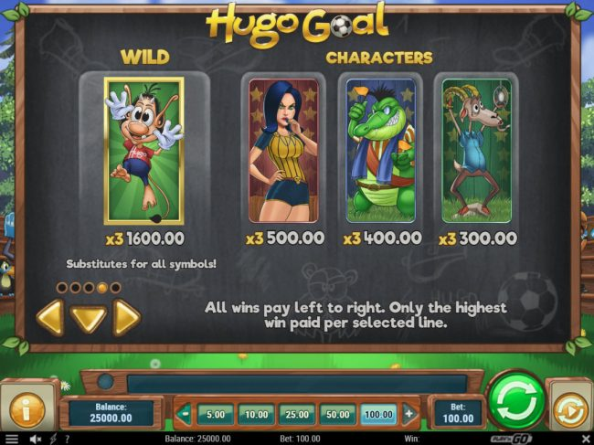 Casumo featuring the Video Slots Hugo Goal with a maximum payout of $80,000