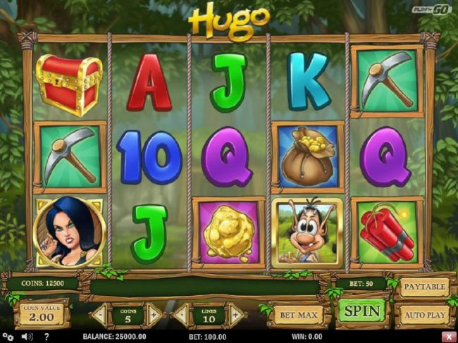 All Wins Casino featuring the Video Slots Hugo with a maximum payout of $20,000
