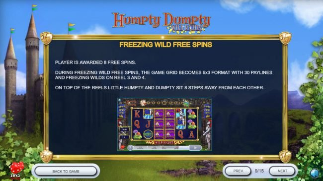 Next Casino featuring the Video Slots Humpty Dumpty Wild Riches with a maximum payout of $120,000