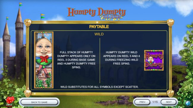 Play slots at Royal House: Royal House featuring the Video Slots Humpty Dumpty Wild Riches with a maximum payout of $120,000
