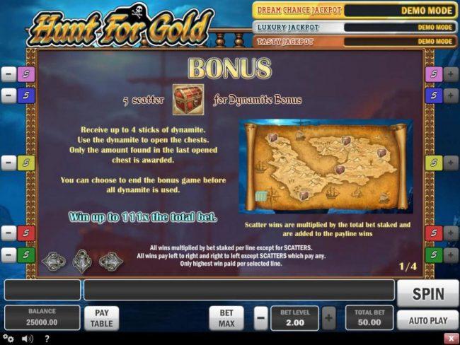 Hunt for Gold :: Bonus Game Rules
