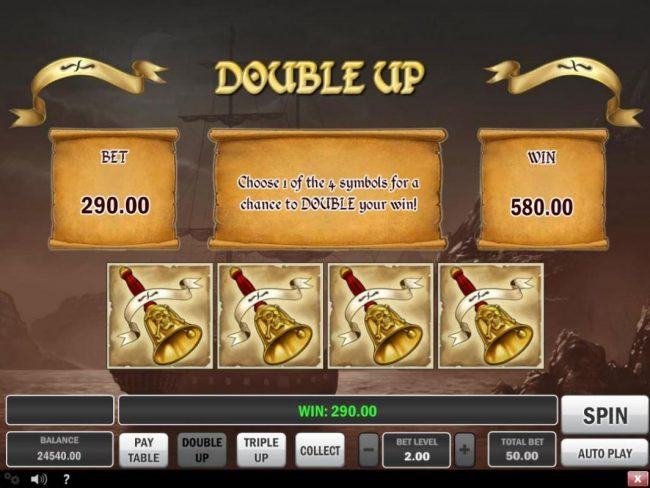 Hunt for Gold :: Double Up Gamble Feature Rules