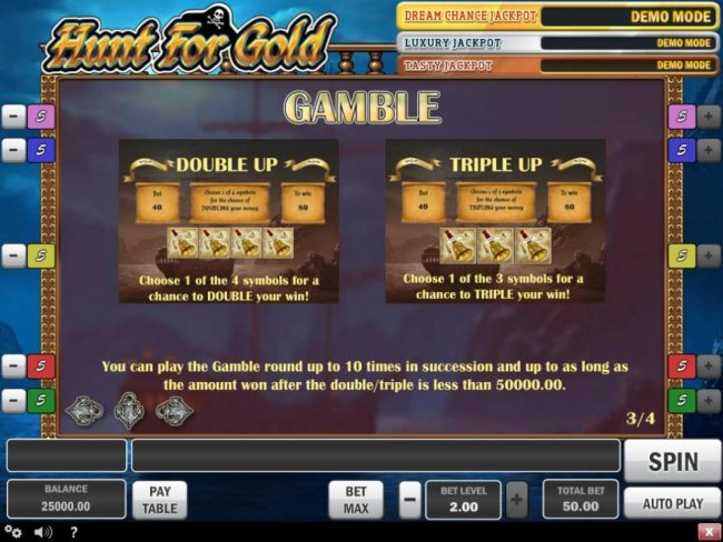 Hunt for Gold :: Gamble Feature Rules