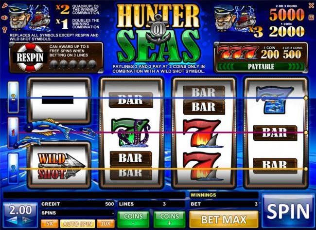 Play slots at Casdep: Casdep featuring the Video Slots Hunter of Seas with a maximum payout of $10,000