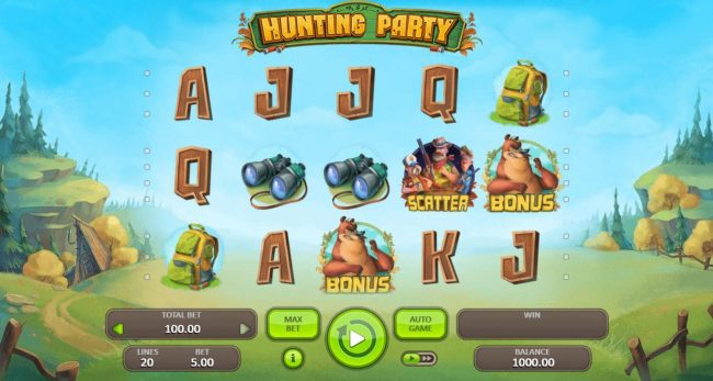 Play slots at ReelTastic: ReelTastic featuring the Video Slots Hunting Party with a maximum payout of $3,750
