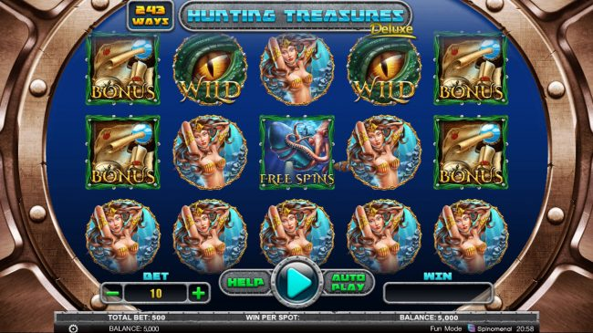 Play slots at 888 Tiger: 888 Tiger featuring the Video Slots Hunting Treasures Deluxe with a maximum payout of $16,000