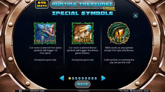Hunting Treasures Deluxe :: Wild and Scatter Symbol Rules