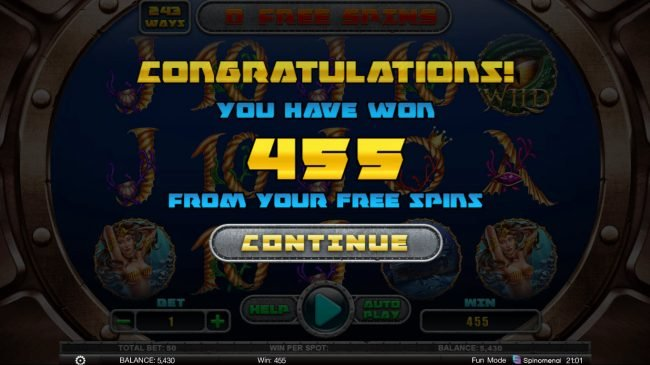 Hunting Treasures Deluxe :: Total Free Spins Payout