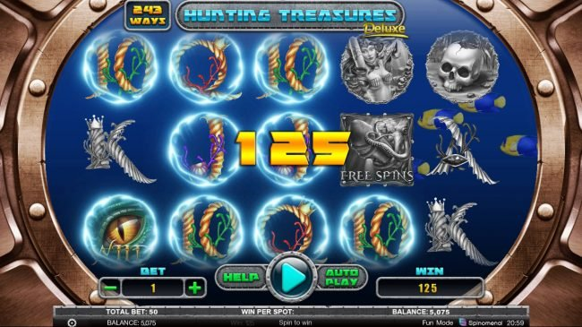 Hunting Treasures Deluxe :: Multiple winning combinations