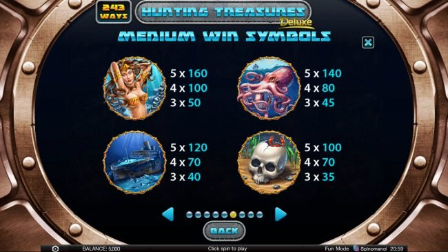 Hunting Treasures Deluxe :: High Value Symbols