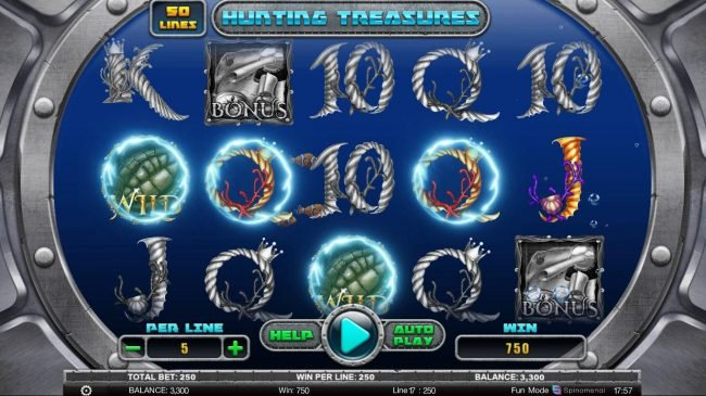 Kingbit Casino featuring the Video Slots Hunting Treasures with a maximum payout of $100,000