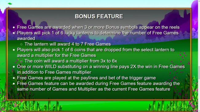 Huolong Valley :: Bonus Game Rules
