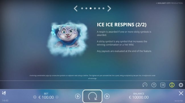 Ice Ice Yeti :: Free Spins Rules