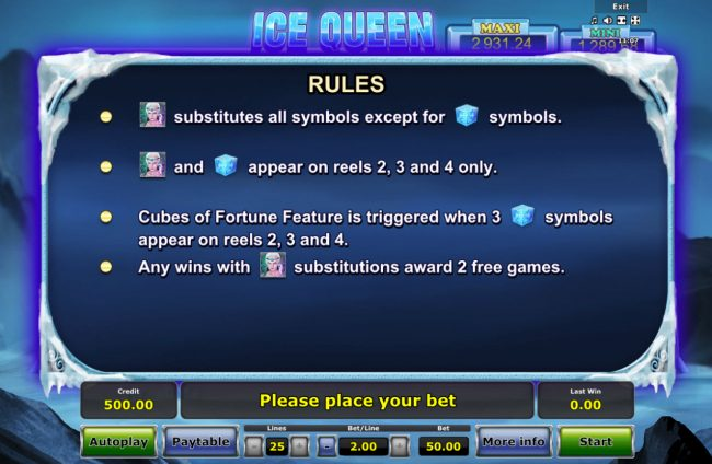 Ice Queen :: Feature Rules