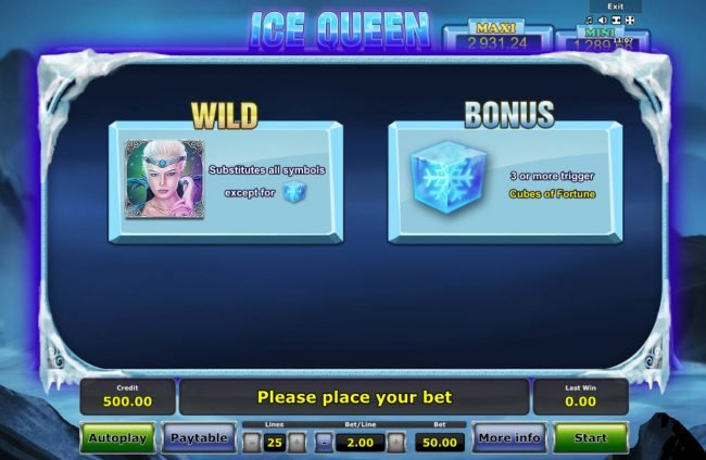 Ice Queen :: Wild and Scatter Symbol Rules