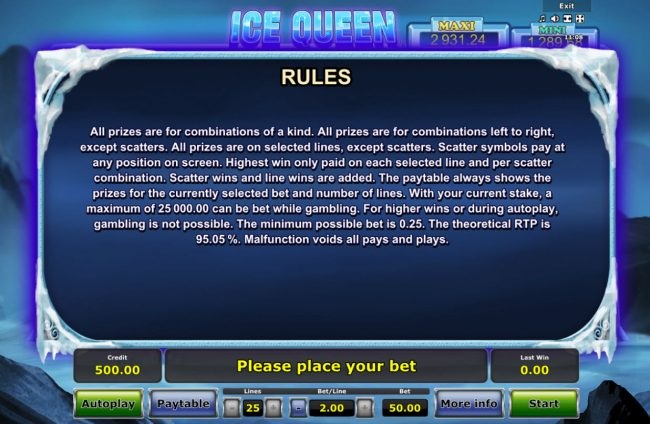 Ice Queen :: General Game Rules