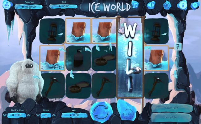 14 Red Casino featuring the Video Slots Ice World with a maximum payout of $75,000