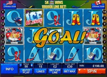 Play slots at Slotman: Slotman featuring the Video Slots Ice Hockey with a maximum payout of $50,000