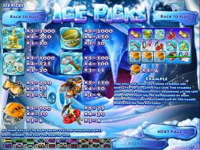 Royal Planet featuring the Video Slots Ice Picks with a maximum payout of $22,500