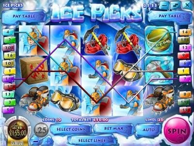 Winbig21 featuring the Video Slots Ice Picks with a maximum payout of $22,500