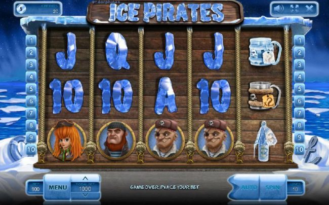 Crystal featuring the Video Slots Ice Pirates with a maximum payout of $500,000