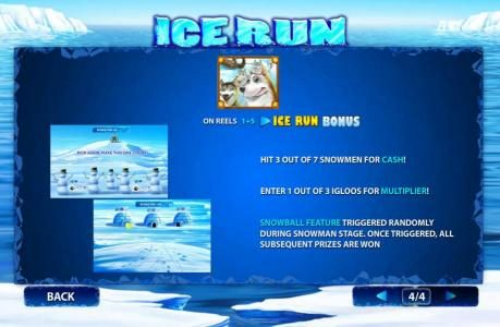 Class 1 Casino featuring the Video Slots Ice Run with a maximum payout of $200,000
