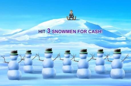 Ice Run :: Hit three snowmen for cash