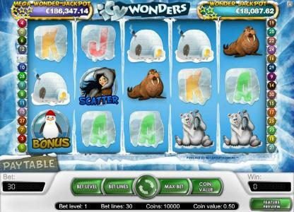 Casino Red Kings featuring the Video Slots Icy Wonders with a maximum payout of $15,000