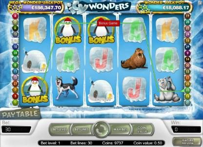 LaFiesta featuring the Video Slots Icy Wonders with a maximum payout of $15,000