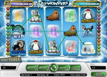 Play slots at Fruity Casa: Fruity Casa featuring the Video Slots Icy Wonders with a maximum payout of $15,000