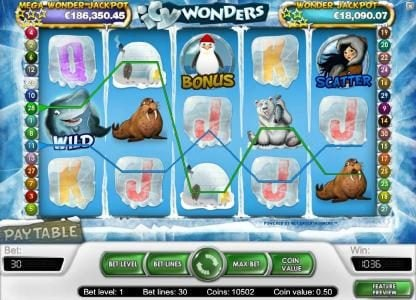 Wixstars featuring the Video Slots Icy Wonders with a maximum payout of $15,000