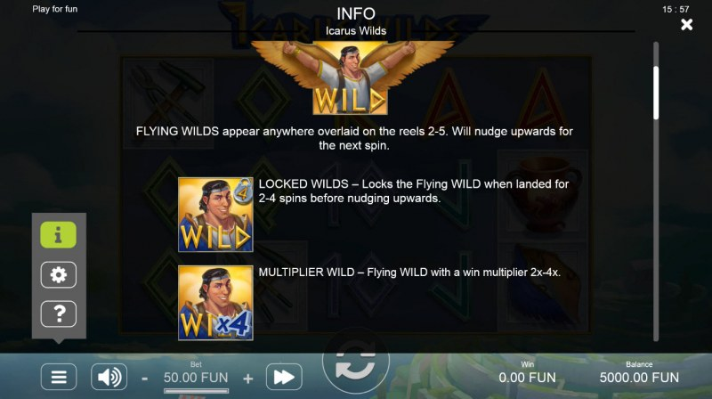 Icarus Wilds :: Wild Symbol Rules
