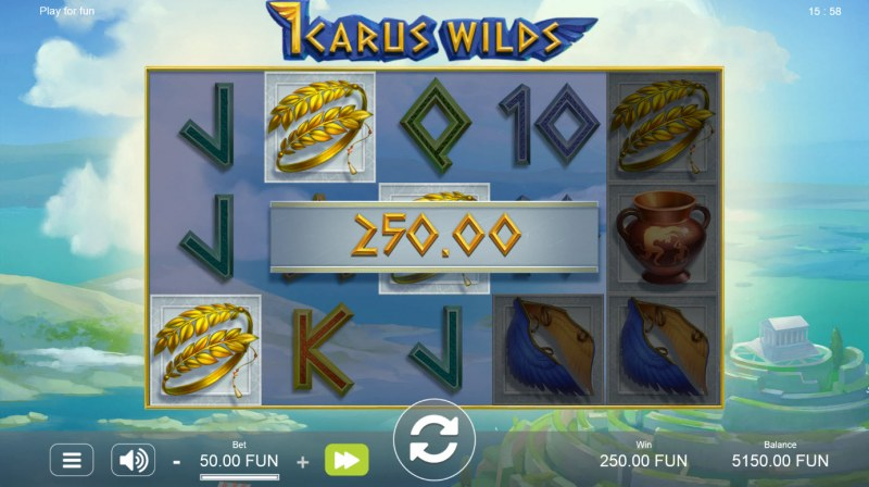 Icarus Wilds :: A three of a kind win