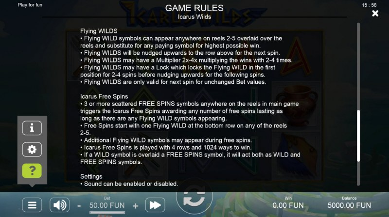Icarus Wilds :: Feature Rules