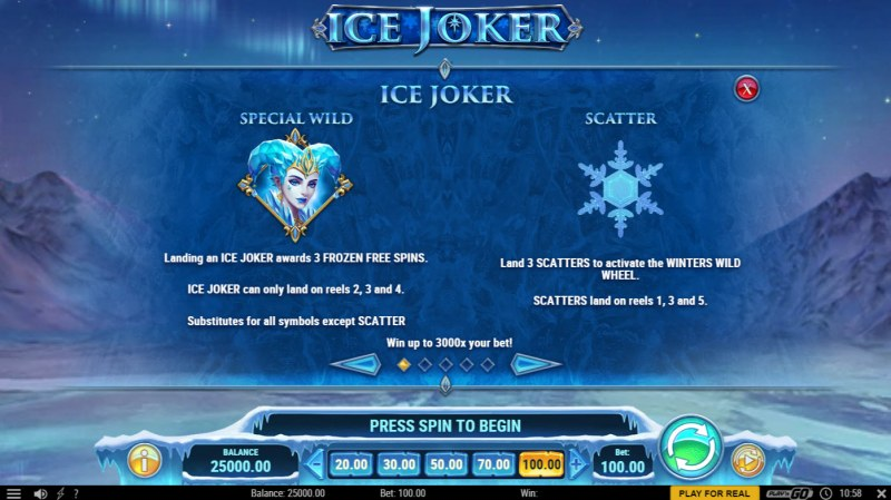 Ice Joker :: Wild and Scatter Rules