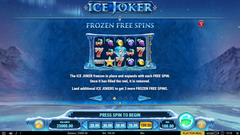 Ice Joker :: Free Spin Feature Rules