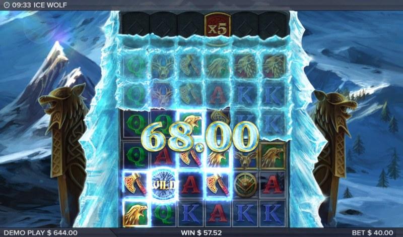 Ice Wolf :: Multiple winning combinations