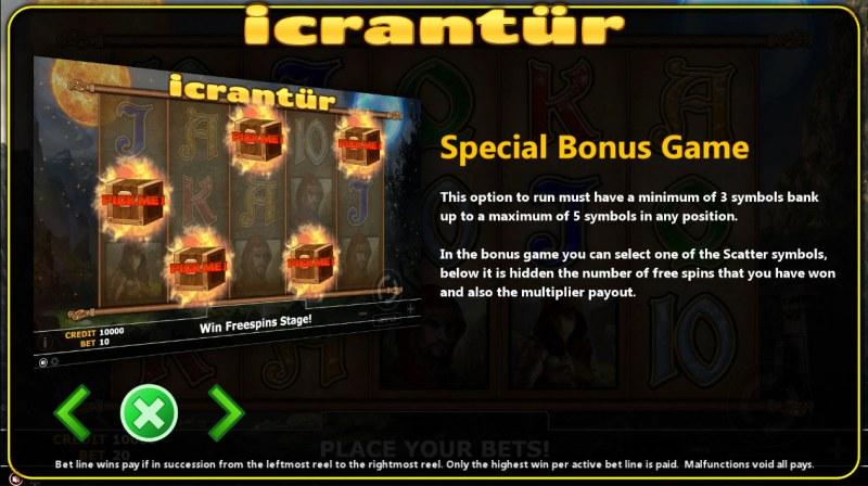Icrantur :: Bonus Game Rules