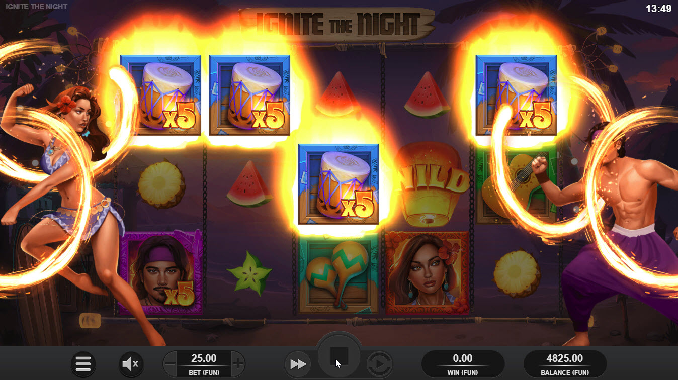 Ignite the Night :: Fire Multipliers triggered