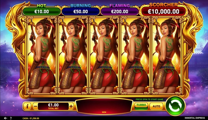 Immortal Empress :: Free Spins Game Board