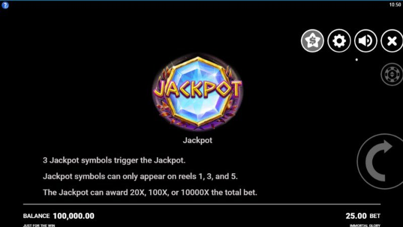 Immortal Glory :: Jackpot Rules