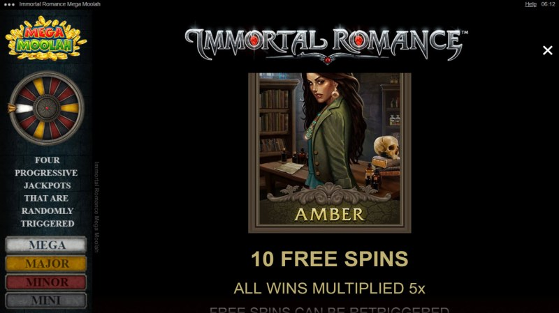 Immortal Romance Mega Moolah :: Amber Free Spins