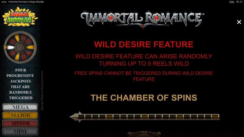Immortal Romance Mega Moolah :: Feature Rules