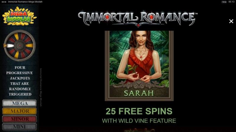 Immortal Romance Mega Moolah :: Sarah Free Spins
