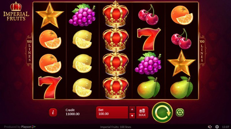 Imperial Fruits 100 Lines :: Main Game Board