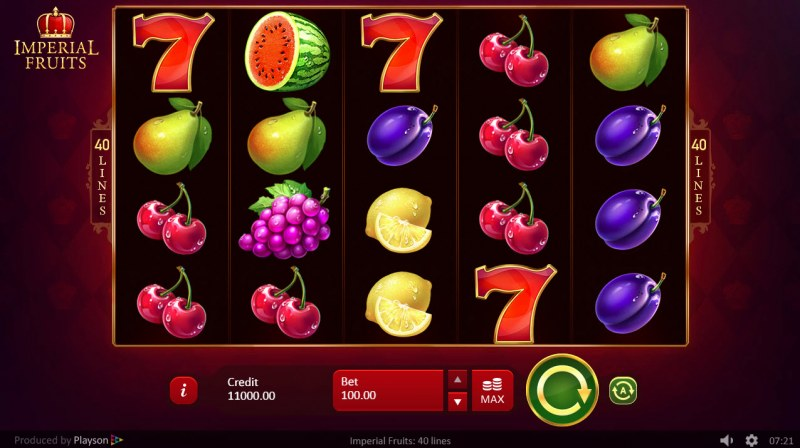 Imperial Fruits 40 Lines :: Main Game Board