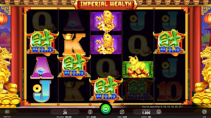 Imperial Wealth :: Multiple winning paylines